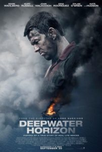 Film based on real life events of the explosion of and offshore platform